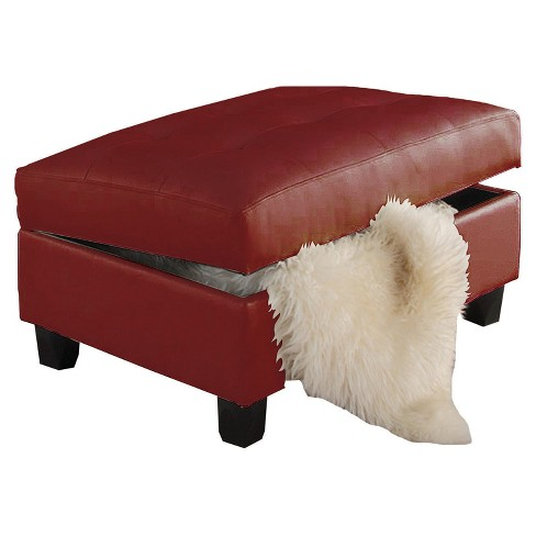 Storage Ottomans Acme Furniture Red - image 1 of 2