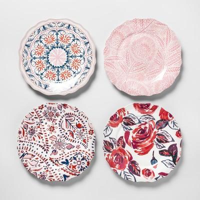 Melamine Salad Plates 8.4  Red/Pink Set of 4 - Opalhouse™