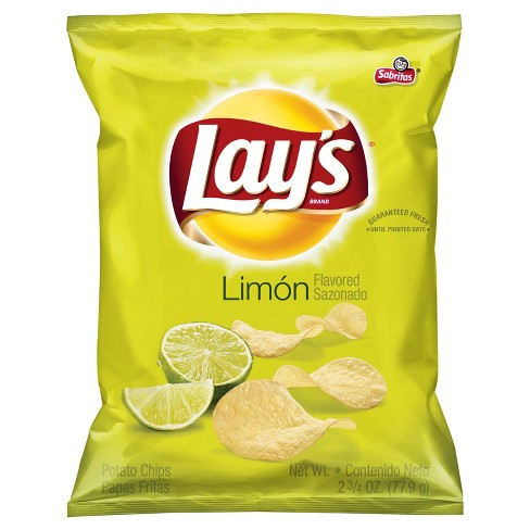 Lay's Limón Flavored Potato Chips - 2.75oz - image 1 of 3