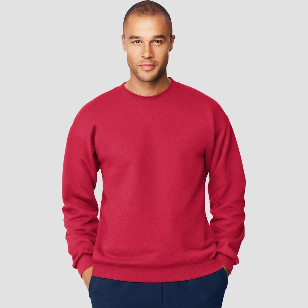 Hanes Men S Big Tall Ultimate Cotton Sweatshirt Deep Red 3xl