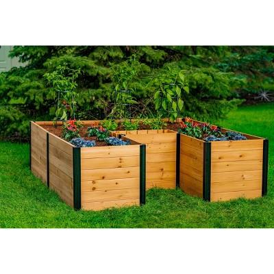 6'x6' Keyhole Garden Square Planter - Vita