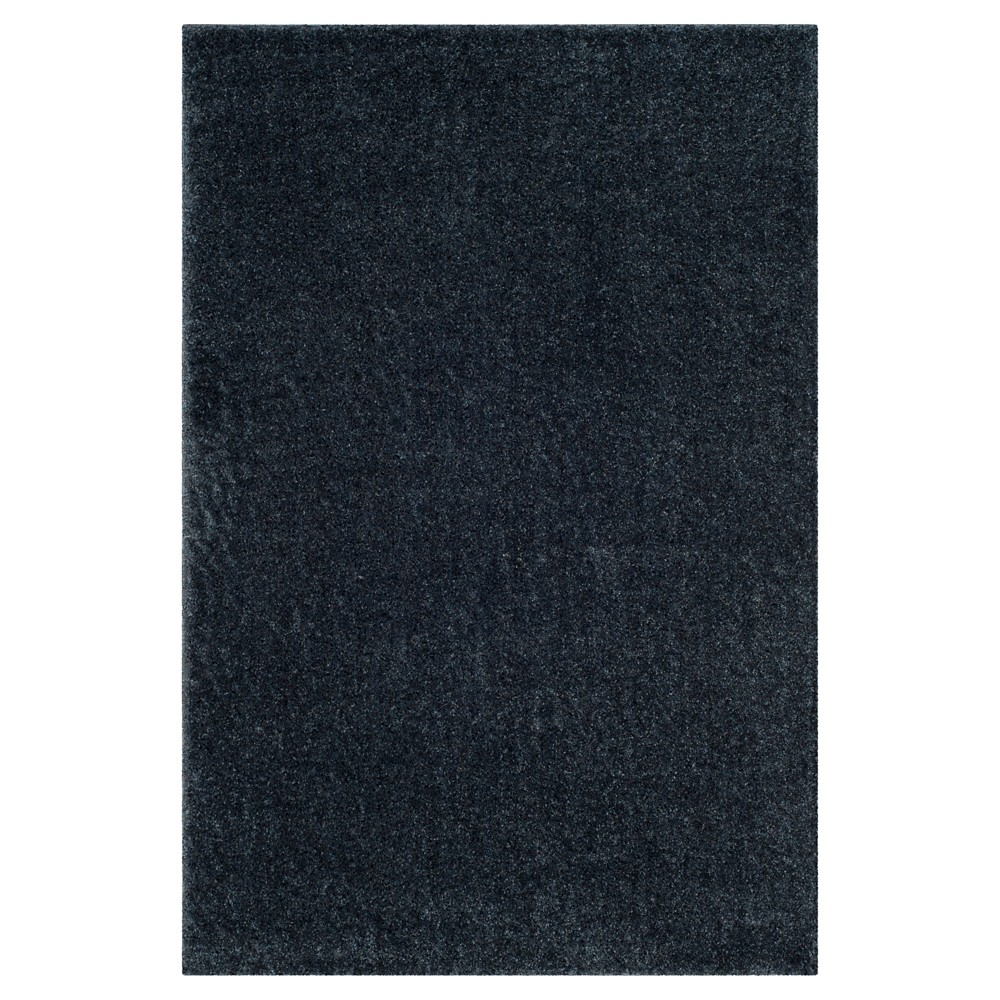 Blue Solid Loomed Area Rug - (6'7