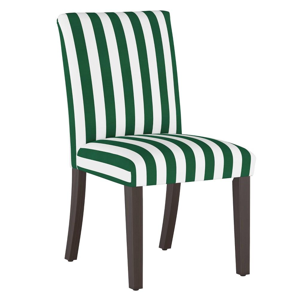 Dining Chair Canopy Stripe Emerald Skyline Furniture