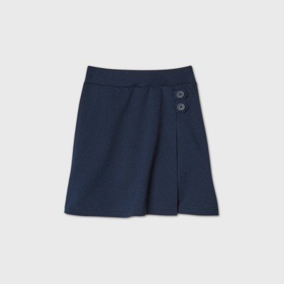 Girls' Stretch Uniform Knit Skorts - Cat & Jack™ Blue