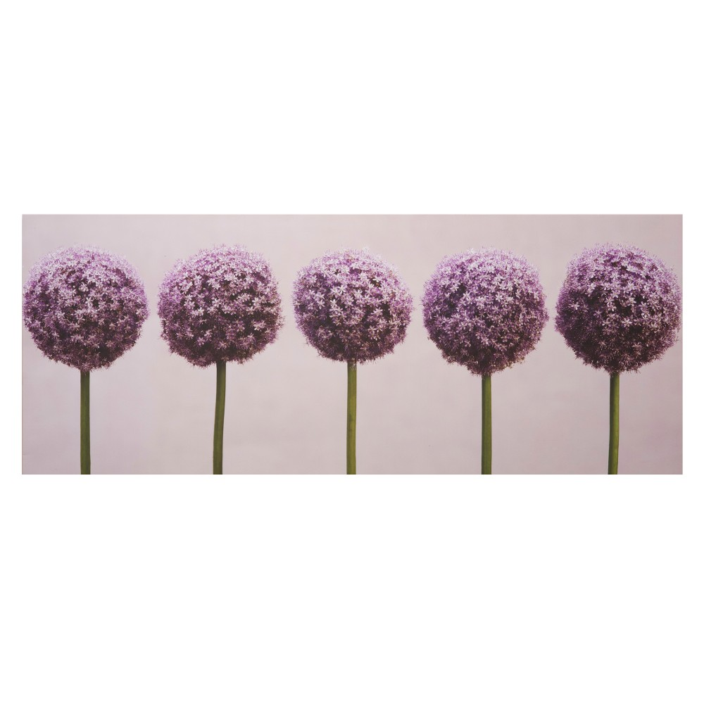 "Image of ""Canvas Row of Alliums - Purple (40 x 16"""")"""