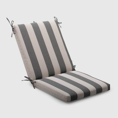Cabana Stripe Outdoor Chair Cushion Black - Threshold™