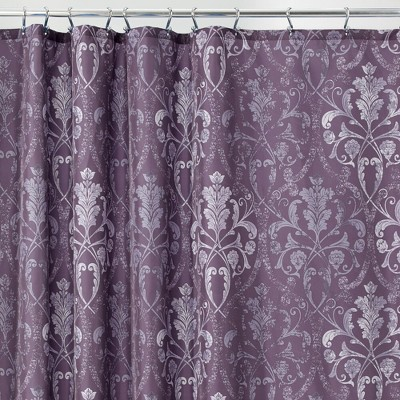 mDesign Damask Print - Easy Care Fabric Shower Curtain