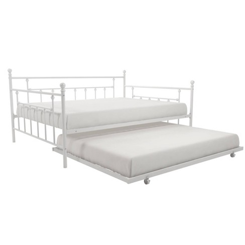 Milan Queen Daybed And Full Trundle Set, White Trundle Bed Queen