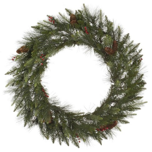 "36"" Christmas Unlit Vallejo Mixed Pine Wreath - image 1 of 1"