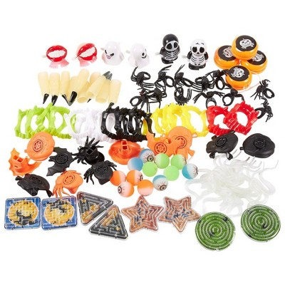 100-Pack of Halloween Toy Favors - Halloween Gifts, Prizes, Novelty Party Favors, Halloween Novelty Toys