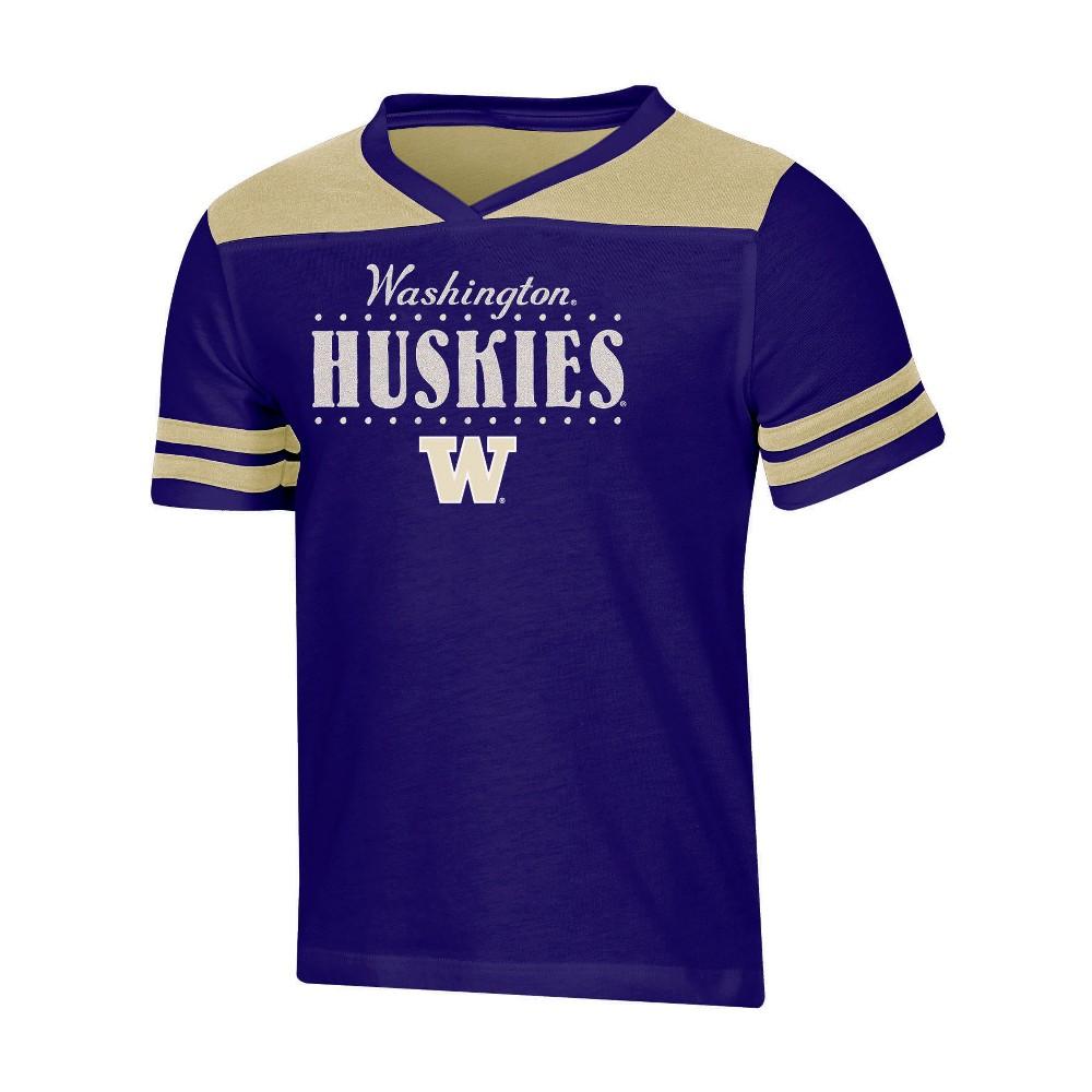 NCAA Girls' Heather Fashion T-Shirt Washington Huskies - XL, Multicolored
