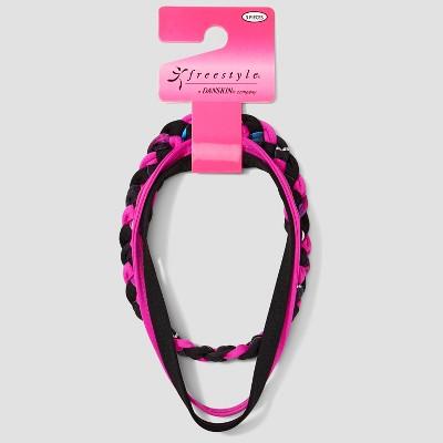 Girls' Freestyle By Danskin 3pk Hair Ties - Pink