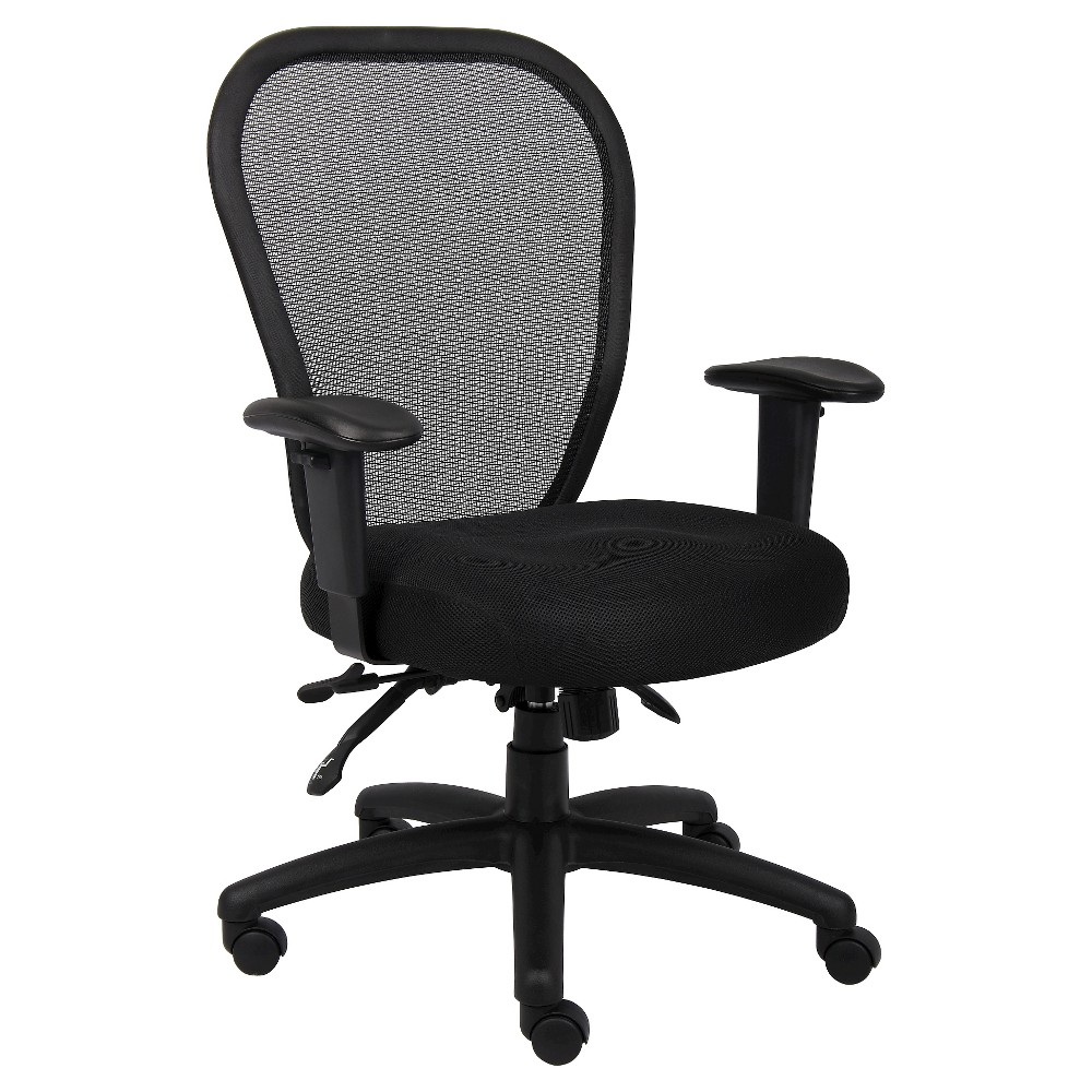 Mesh Chair with 3 Paddle Mech Black - Boss Office Products