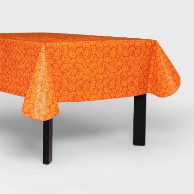 "60""x84"" Pumpkin Halloween Tablecloth Orange - Hyde & EEK! Boutique™"