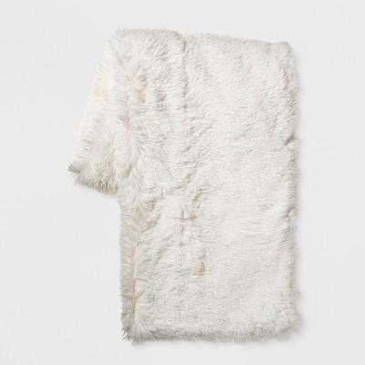 Cream Shaggy Plush Throw - Room Essentials™