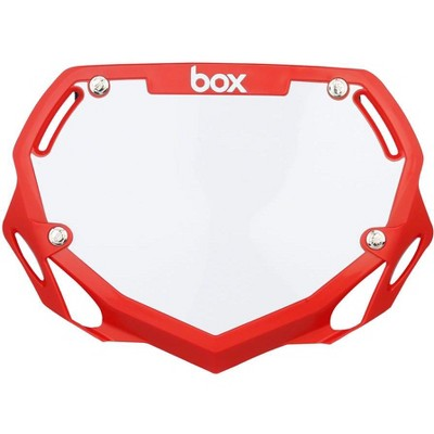 BOX Two BMX Number Plate RedLarge