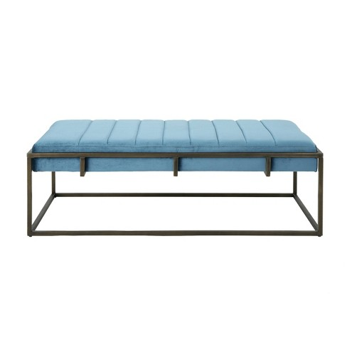 Magdalene Modern Velvet Ottoman Bench - Christopher Knight Home - image 1 of 4