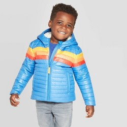 Toddler Boys' Pieced Midweight Puffer Jacket - Cat & Jack™ Blue