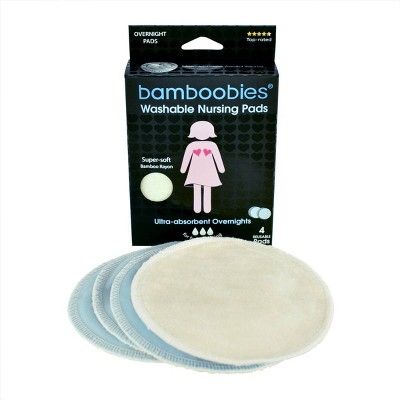 Bamboobies Overnight Washable Nursing Pads - 4pk
