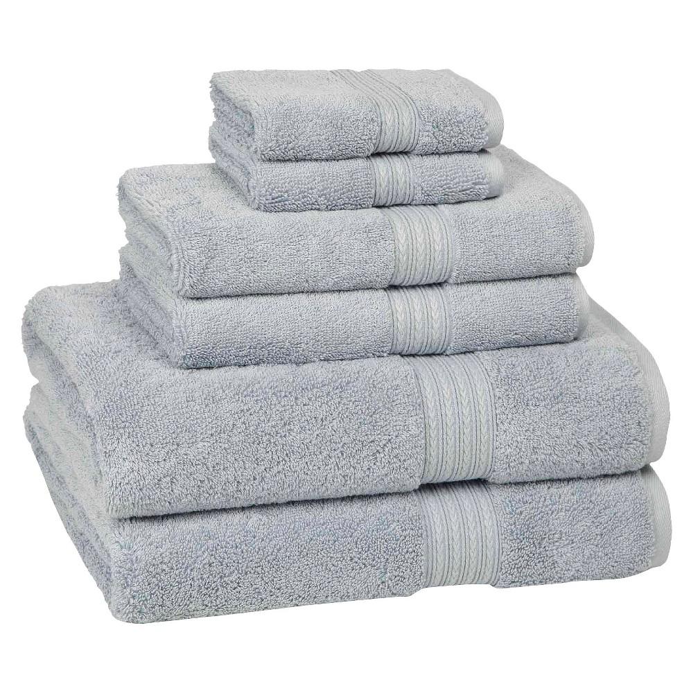 6pc Signature Solid Bath Towel Set Light Blue Cassadecor