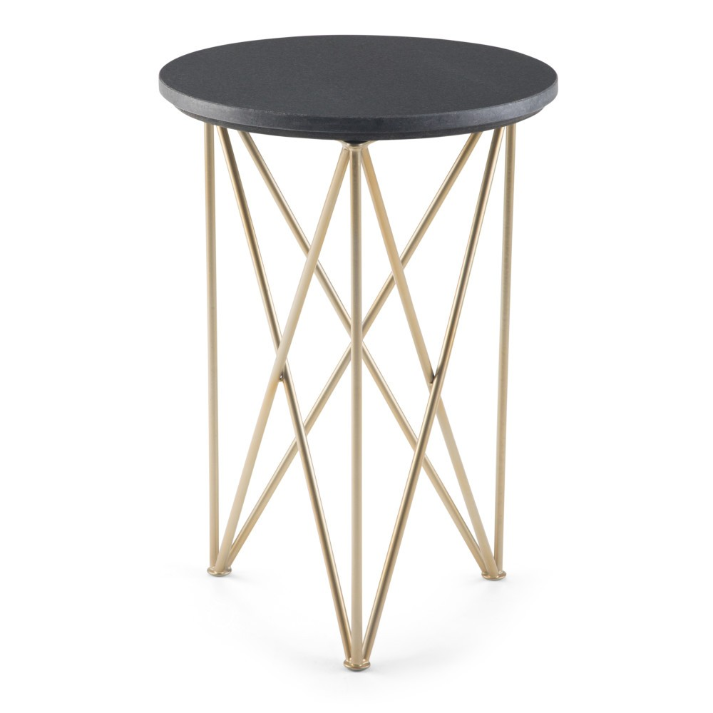 Abel Accent Table Black/Gold - Wyndenhall