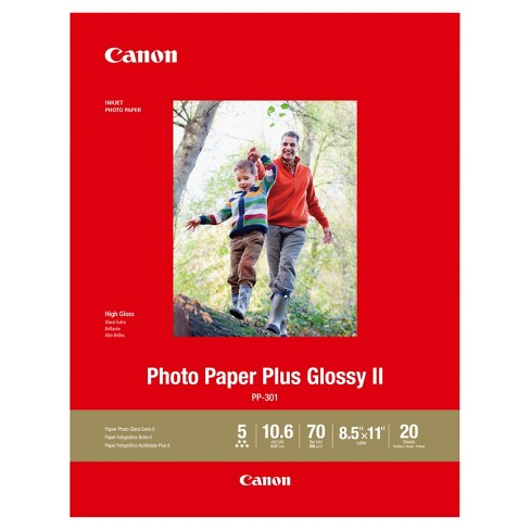 Canon Pp 301 Letter Photo Paper Plus Glossy Ii 85x11 20 Sheets