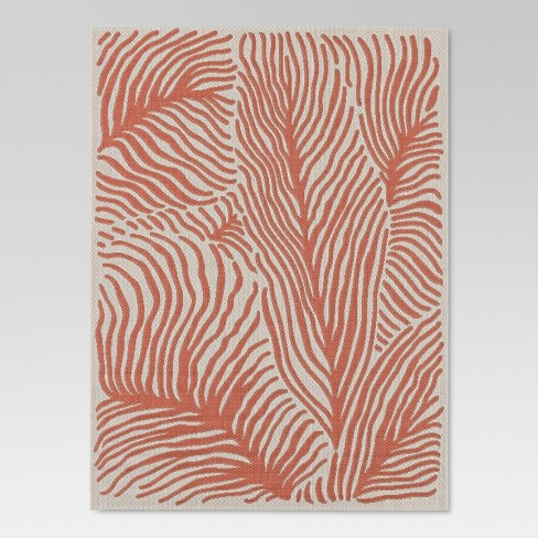 Coral Outdoor Rug 5 X7 Threshold