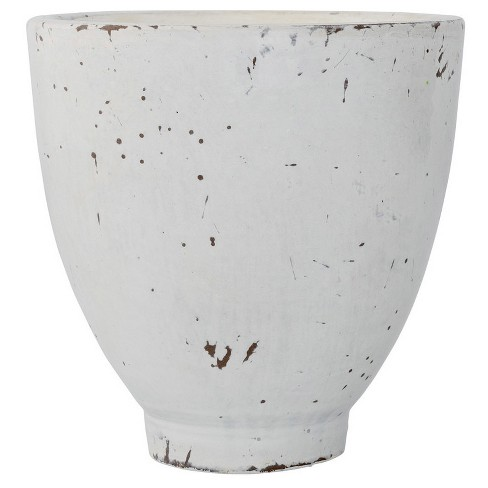 "Ceramic Flower Pot - White (4"") - 3R Studios - image 1 of 1"
