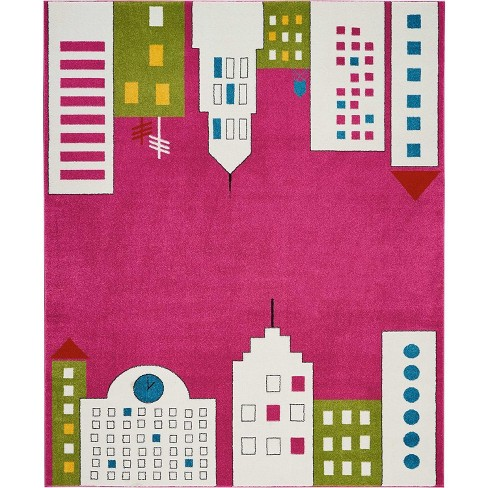 Nourison Miles DS201 Pink Area Rug - image 1 of 4