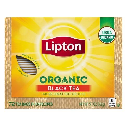 Lipton Black Organic Tea Bags - 72ct - image 1 of 4
