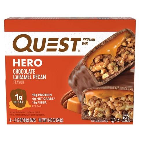 Quest Hero Protein Bar - Chocolate Caramel Pecan - 4ct - image 1 of 4