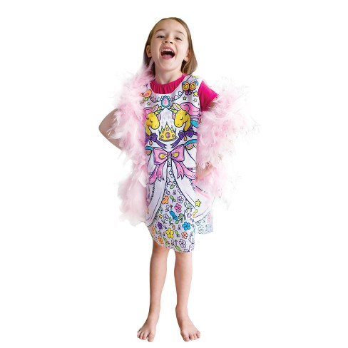 Great Pretenders Colour-A-Dress - Kid's Size 5-6 - image 1 of 1