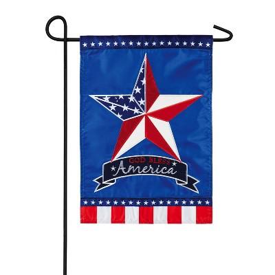 Evergreen Flag  Patriotic Country Star  Garden Applique Flag