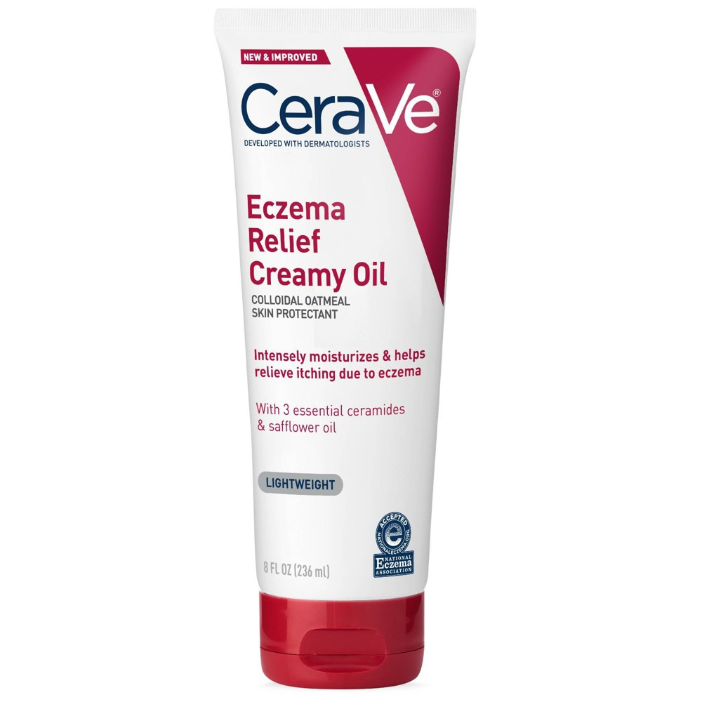 Cerave Soothing Eczema Creamy Oil Moisturizer For Dry And Itchy Skin 8oz