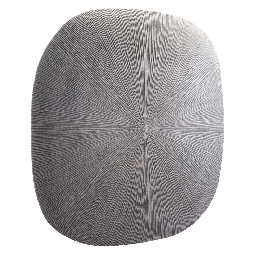 ZM Home 29 Textured Square Wall Sculpture Light Gray