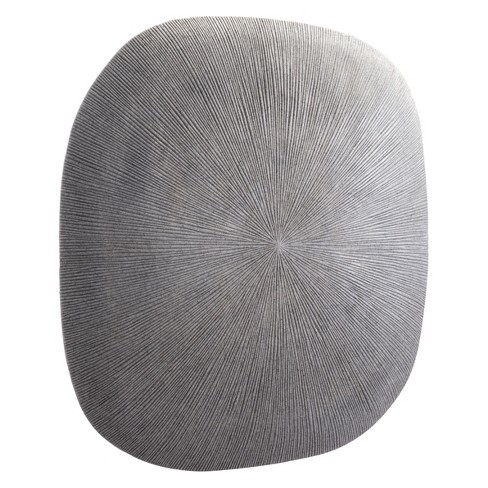 """ZM Home 29"""" Textured Square Wall Sculpture Light Gray - image 1 of 3"""