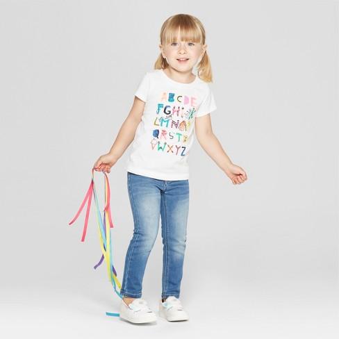 8094f319 Toddler Girls' Alphabet Short Sleeve T-Shirt - Cat & Jack™ White. Shop all  Cat & Jack
