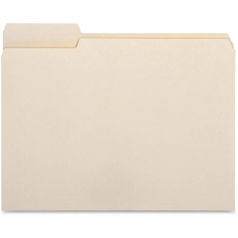 Business Source 50ct 1/3 Cut Left Tab File Folders - image 1 of 2