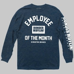 Men's The Office Employee Of The Month Long Sleeve Graphic T-Shirt Navy