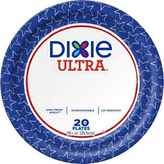 "Dixie Ultra 10 1/16"" Limited Edition Paper Plates - 20ct"