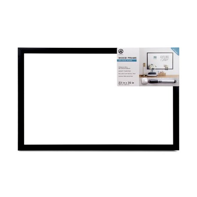 "Ubrands 23"" x 35"" Black Wood Frame Dry Erase Board with Marker"