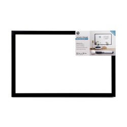 "23"" x 35"" Magnetic Dry Erase Board with Marker - Black Wood Frame - U-Brands"