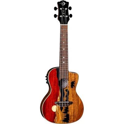 Luna Guitars Vista Bear Tropical Wood Concert Acoustic-Electric Ukulele Gloss Natural