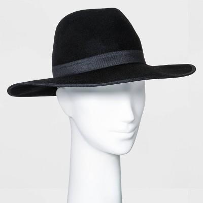 Women's Wide Brim Felt Fedora Hat - A New Day™