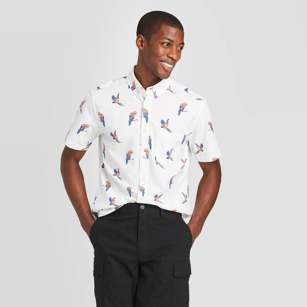 Men's Slim Fit Short Sleeve Poplin Button-Down Shirt - Goodfellow & Co Light Cream 2XL, Light Ivory was $19.99 now $12.0 (40.0% off)