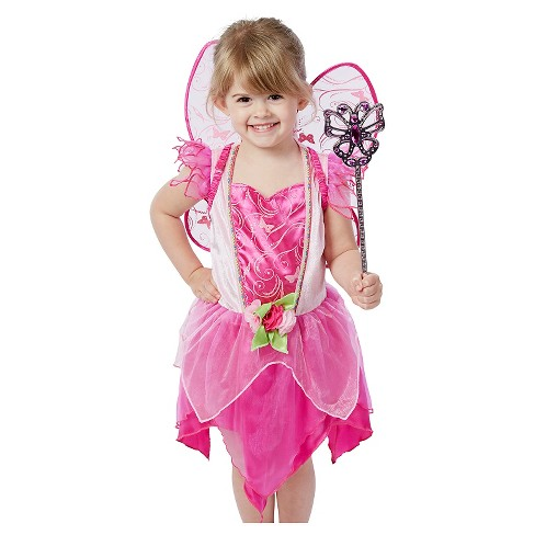 Melissa doug flower fairy role play costume set 3pc pink melissa doug flower fairy role play costume set 3pc pink dress wings wand target mightylinksfo