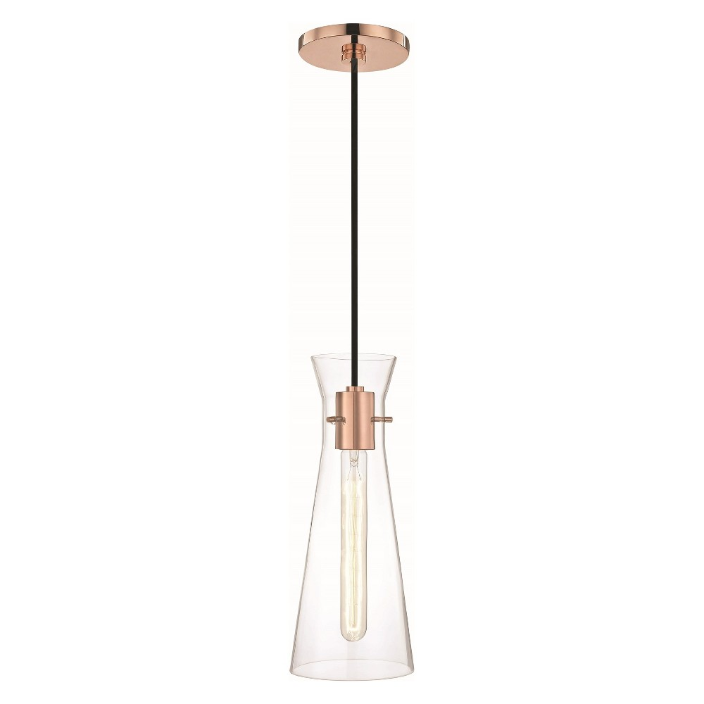 Image of Anya 1-Light Pendant Chandelier Polished Copper - Mitzi by Hudson Valley, Brown