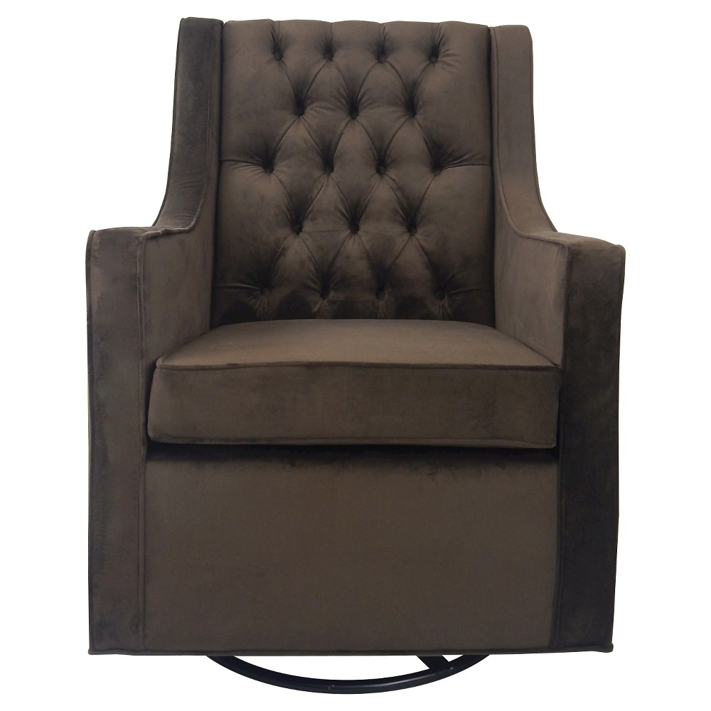 Ava Upholstered Glider Chair - Brown