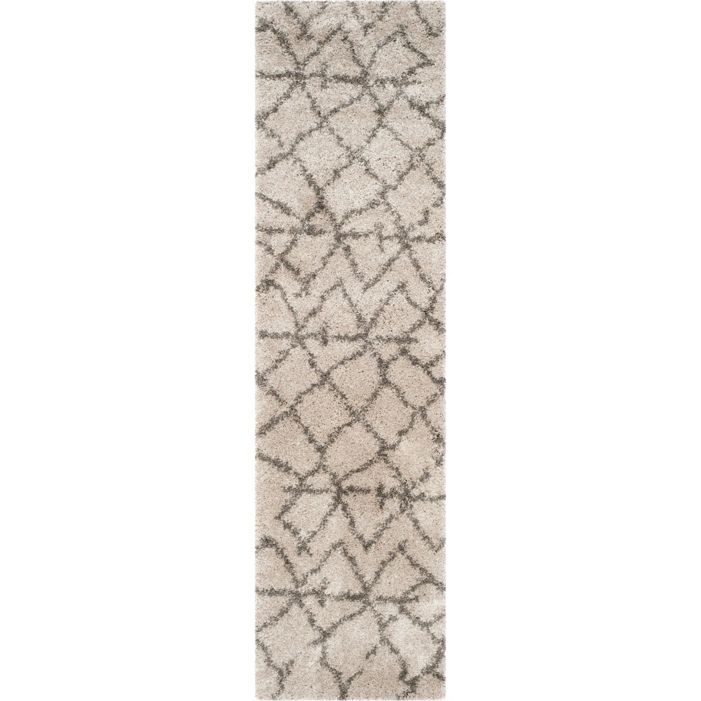 23X11 Geometric Loomed Runner Taupe/Gray - Safavieh Coupons