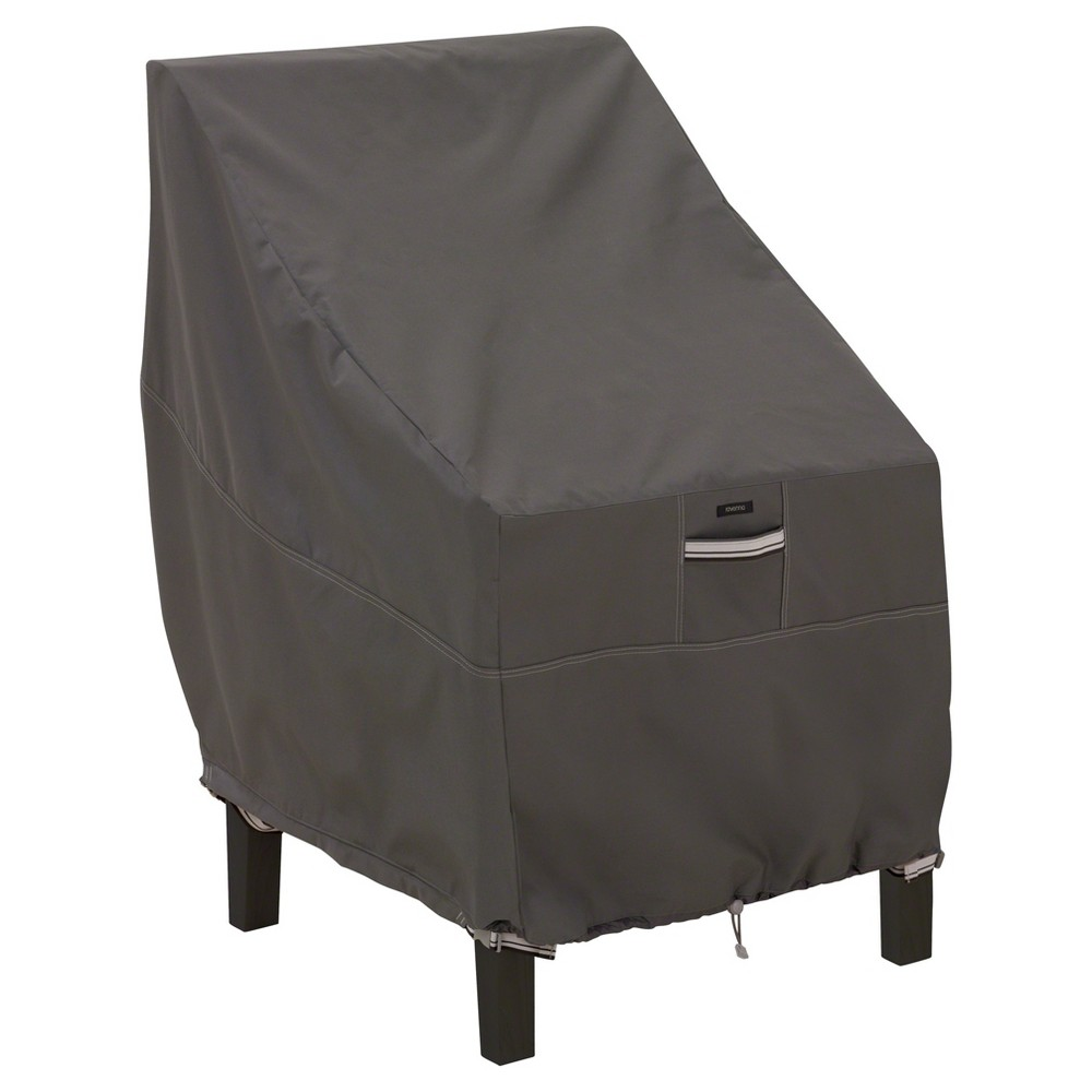 """Image of """"Ravenna Patio High Back Chair Cover - 25.5"""""""" x 32.5"""""""" x 34"""""""" - Dark Taupe - Classic Accessories"""""""